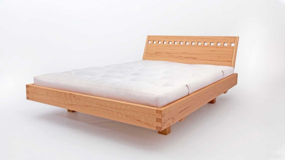 """Suspended bed Exil with headboard """"recesses"""""""