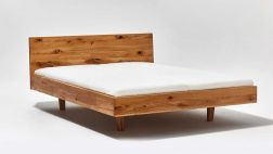 Fly floating bed; simple timeless design and first-class workmanship|Fly floating bed made of solid wood.