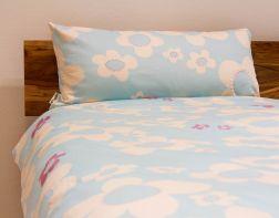 Bed linen flower, blue